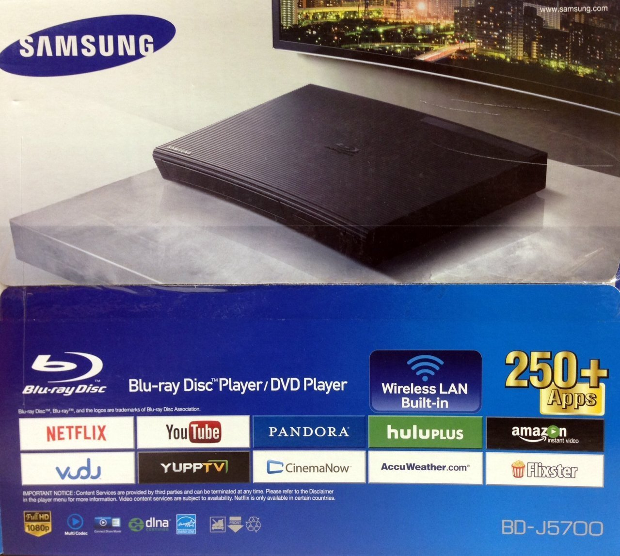 Samsung J5700RF Blu-Ray DVD Player with 2D Built-in Wi-Fi by Samsung