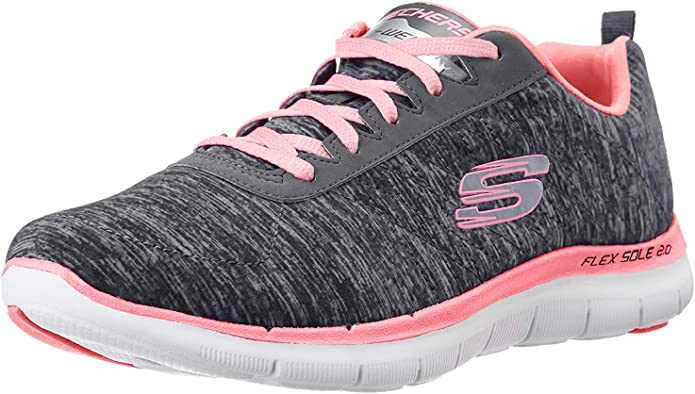 Skechers Flex Appeal 2.0 Sneakers Damen Schwarz/Rosa