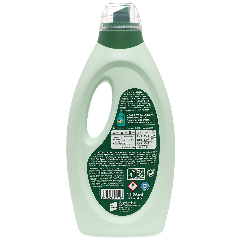 Norit - Detergente para ropa delicada, lavado a máquina, 12 x ...