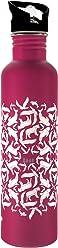 KA-AB Botella de Acero Inoxidable para Agua diseño Animales Rosa Capacidad 1lt. Libre de BPA