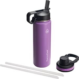 Thermoflask with Chug Lid and Straw Lid 24 oz Plum