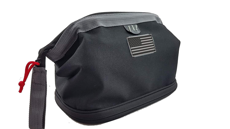 NiceAndGreat Lockable Pistol Case Discreet Handgun Cases Deceit Shaving Kit Glock Revolver Gun Mag Storage Bag Black by NiceAndGreat
