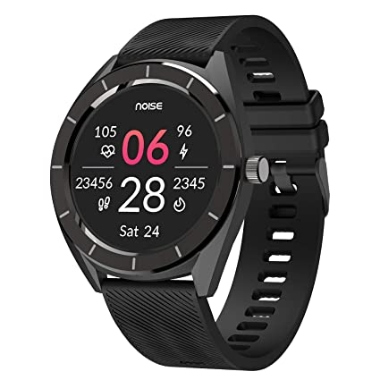 Noise NoiseFit Stainless Steel Endure Smartwatch with 100+ Cloud Based Watch Faces and 20 Day Battery Life (Charcoal Black)