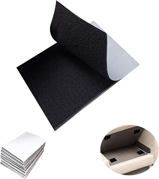 30 Pcs Hook and Loop Tape, 15 Packs 4 x 6 inch Self Adhesive Non Slip Sticky Back Mounting Tape, Double-Side Couch Hook Loop Tape for Keeping Couch Cushions from Sliding
