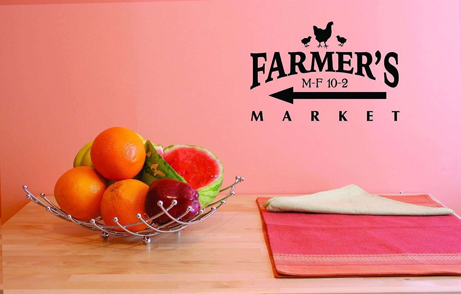 Design with Vinyl JER 1763 3 Hot New Decals Farmers Market Wall Art Size 20 Inches x 40 Inches Color Black 20 x 40