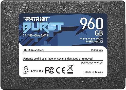 Patriot Memory Burst Ssd 960gb Sata Iii Internal Solid State Drive 2 5 Pbu960gs25ssdr Amazon Ca Computers Tablets
