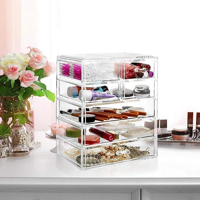 Amazon.com: Casafield - Estuche organizador de maquillaje y ...