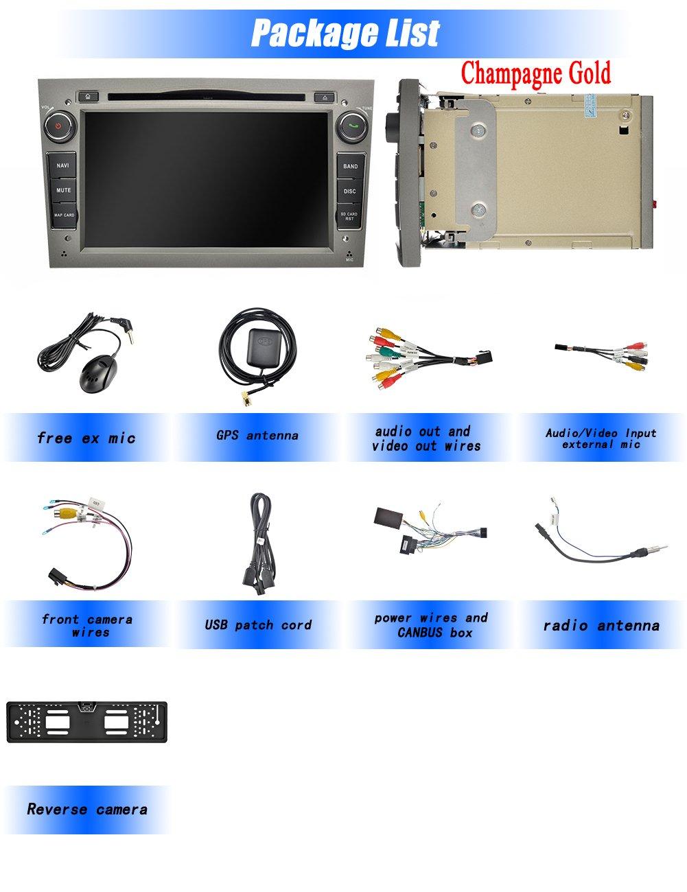 Ohok 2 DIN Android 8.0.0 Autoradio 7 Pulgadas Oreo Octa Core 4GB Ram 32GB ROM GPS Navegador Radio Soporta Bluetooth WiFi AV-IN SWC para Opel Vauxhall Astra ...