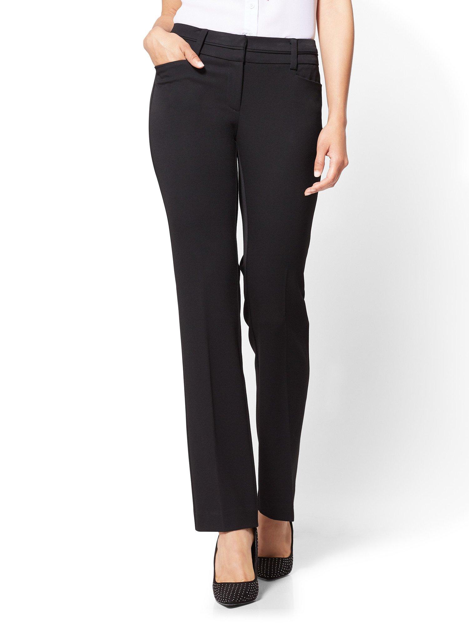 New York & Co. Women's 7Th Avenue Petite Pant - Straight Leg - 12 Black