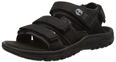 3a0da037a1f0 Timberland Men s Roslindale Backstrap Open-Toe Sandals Black Size  6.5