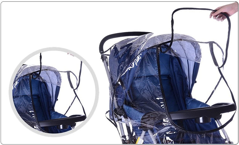 Habillage pluie Universel pour Poussette Couverture Protection Pluie et Vent Transparent Fen/être de Contact Imperm/éable Landau Housse /étanche pour B/éb/é Tous types de Poussettes