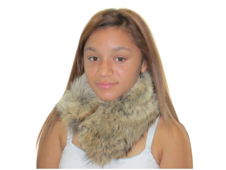 Natural Coyote Neck Warmer & Collar