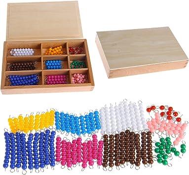 MiSha Palo de Cuentas de Colores, Montessori matematicas Juguete de Madera Montessori Juguetes educativos: Amazon.es: Juguetes y juegos