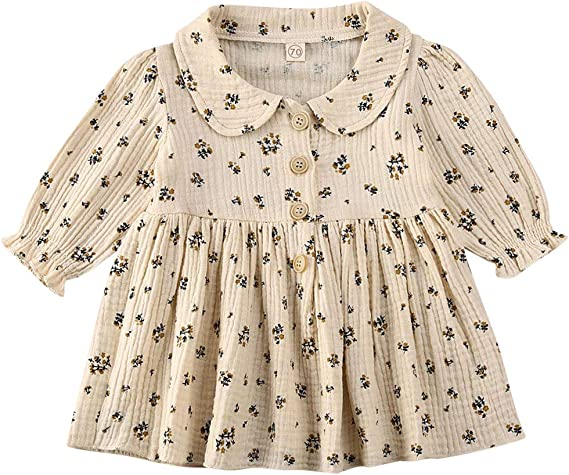 6T 5T 4T Baby girl dress Toddler clothes 3T 7T Long sleeve dress girl