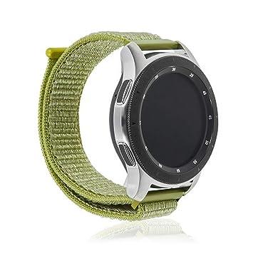 DAM. DMAB0122C20 Correa Universal De Nylon para Relojes De 20Mm. Compatible Samsung Gear S2 Classic, Samsung Gear Sport. Quick Release. Verde