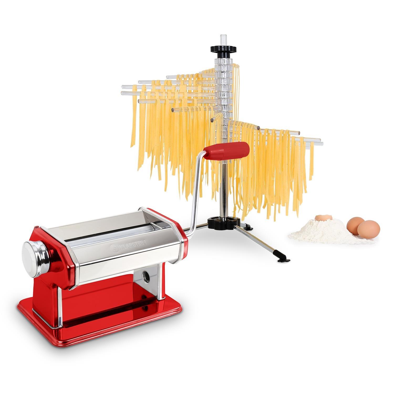 Klarstein Pasta Set Siena Pasta Maker Red & Verona Pasta dryer Klrastein