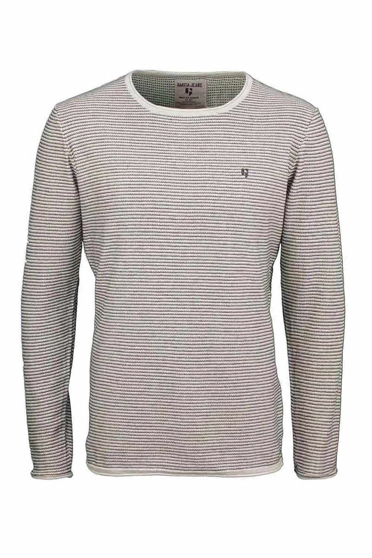 Pullover Men Striped Grey s61044?-?Garcia Jeans