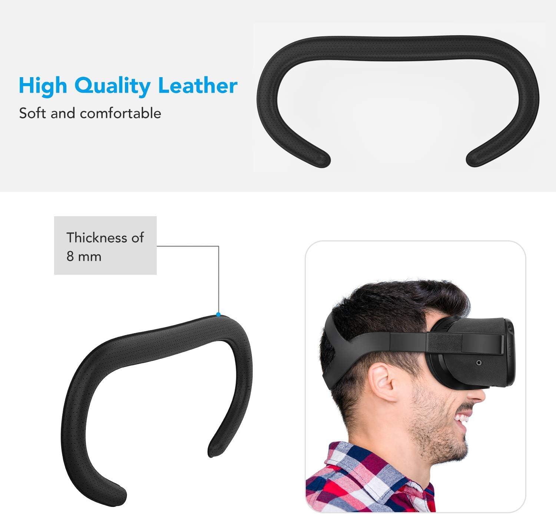 5-teiliges Set Ersatz /& staubdichter Schutz-Objektivdeckel /& Anti-Auslauf-Nasenpolster Custom Set f/ür Oculus Quest Zubeh/ör KIWI Design VR Gesichts-Halterung /& PU-Leder-Schaumstoff-Gesichtsabdeckung