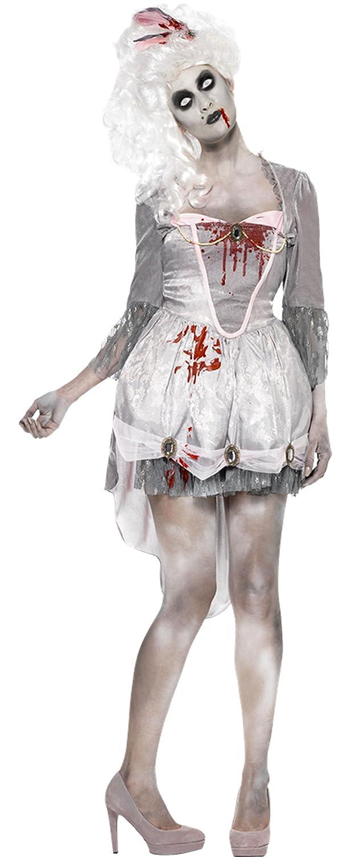 Zauberclown Damen Karneval Halloween Kostüm Zombie Georgian, Grau, Größe Größe Größe L 002135