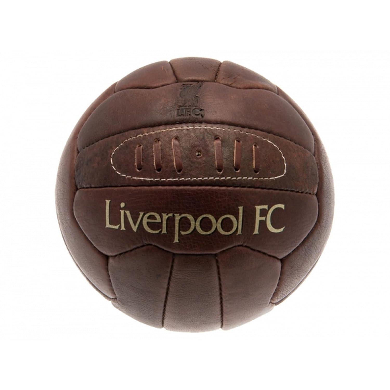 Liverpool FC - Balón de fútbol retro de piel oficial modelo ...
