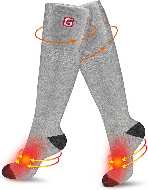 Details about  /Winter Electric Heated Socks Rechargeable Battery Feet Warmer Waterproof Outdoor