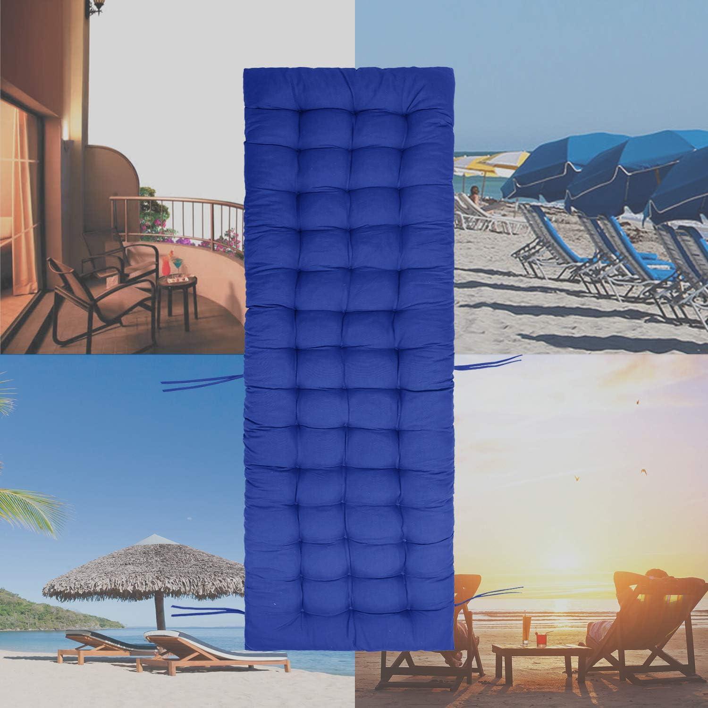 Heyjewels Coussin de Chaise Longue Bain de Soleil Anti-d/érapant Transat Pon/çage de Jardin pour Fauteuil Relax Lounge Epais Terrasse Cousse de Bain de Soleil Bleu Ciel
