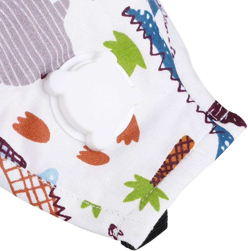 Kinderbetreuung Waschbare Anti-Staub Weich K/älteschtz Smiley-Muster f/ür Frauen und M/änner KZ0427A GeHellblau