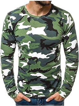ღLILICATღ Camiseta de Camuflaje Hombre Militares Camisetas Deporte Ropa Deportiva Camisa de Manga Larga de Camuflaje Slim fit Casual para Hombres Tops Camisas Hombre: Amazon.es: Deportes y aire libre