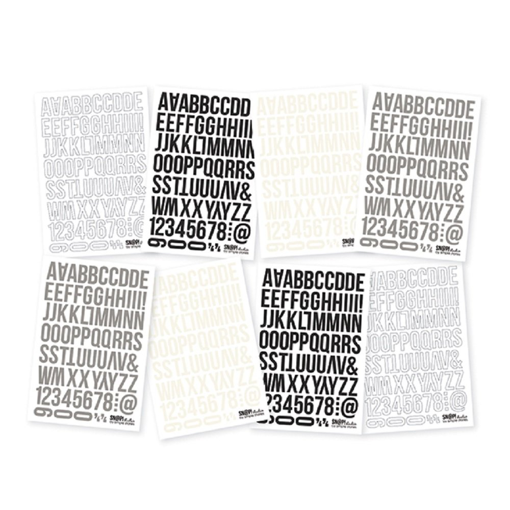Simple Stories 2854 Snatp! Wood Grain Basics Letter Stickers, 4 x 6 4 x 6