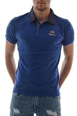 Polo Pepe Jeans Esteban Azul M Azul: Amazon.es: Ropa y accesorios