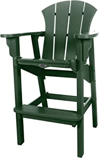 product image for Nags Head Hammocks Sunrise Bar Dining Chair, Forest Green