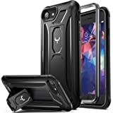YOUMAKER [2021 Upgraded] iPhone SE 2020 Case, iPhone 8 Case, iPhone 7 Case, Built-in Screen Protector Kickstand Full…