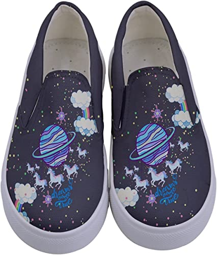 Purple Unicorn Canvas High Top Shoes Sneakers Style 5 children/'s