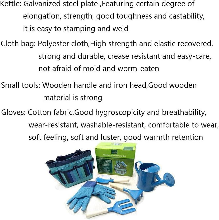 cedarfiny Kids toy set 6 PCS//Set Childrens Garden Tool Set Garden Outdoor Metal Shovel Gloves Kettle Set