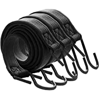 color negro y blanco Juego de 50 tensores de goma para tienda de campa/ña