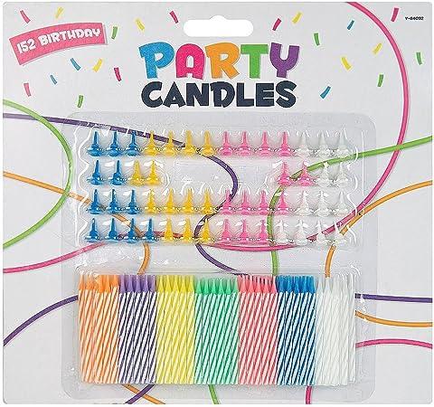 Lot tienda fiesta de cumpleaños velas y soportes celebración aniversario), 1 pack: Amazon.es: Hogar