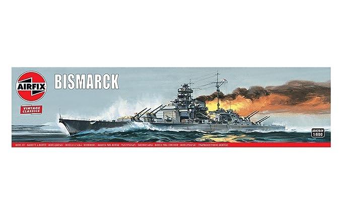 Amazon.com: Airfix Bismarck 1:600 Vintage Classics Military ...
