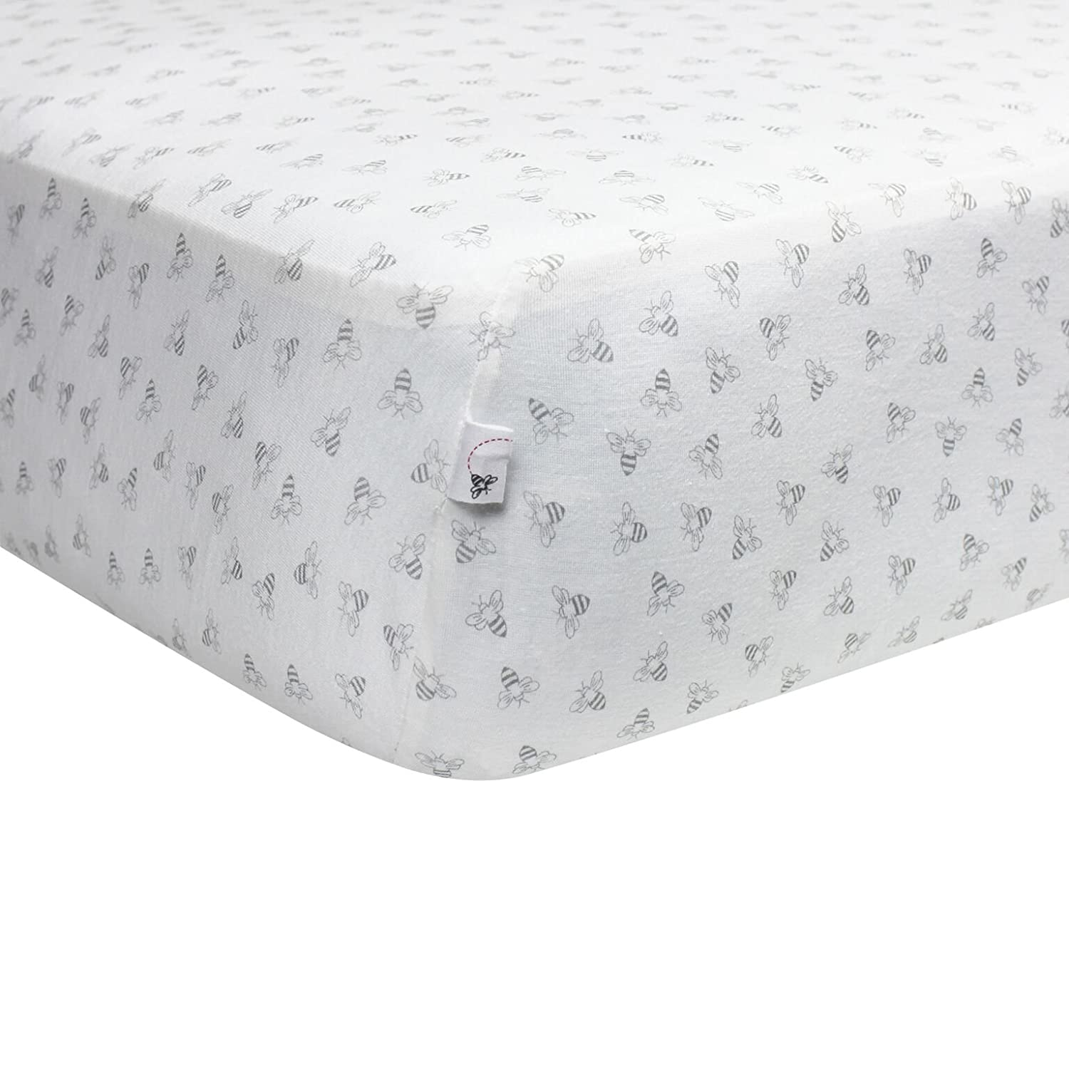 Blossom Butterfly Garden Fitted Crib Sheet Girls /& Unisex 100/% Organic Cotton Crib Sheet for Standard Crib and Toddler Mattresses Burts Bees Baby