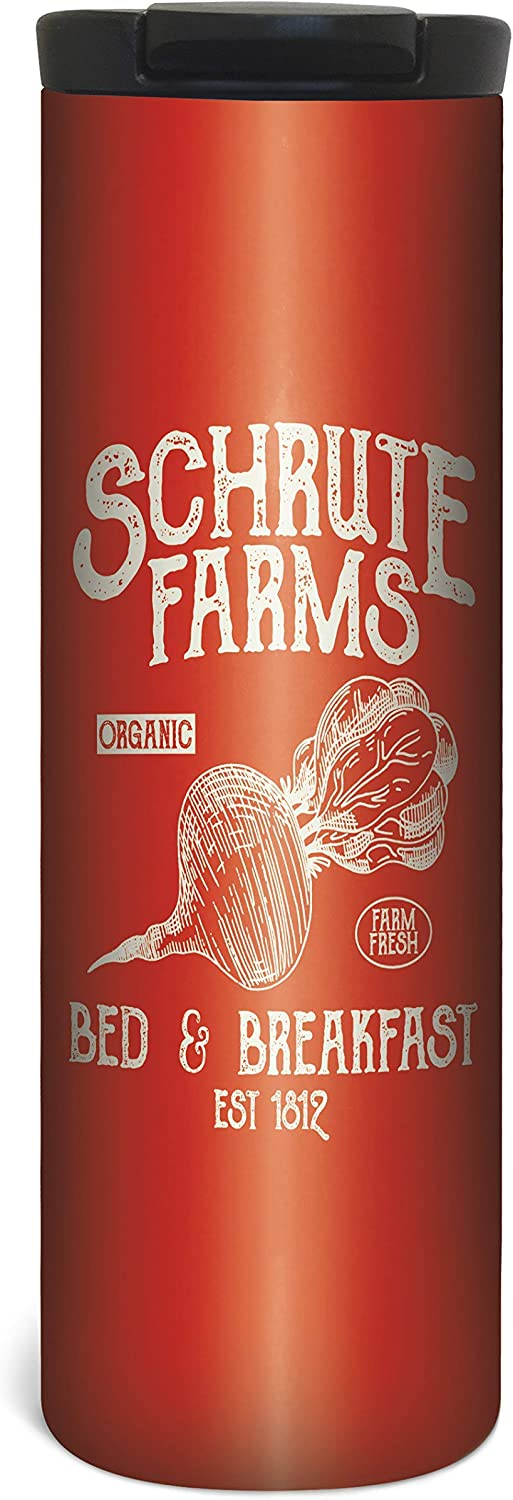 Schrute Farms Travel Mug - 17 Ounce Double Wall Vacuum Insulated Stainless Steel