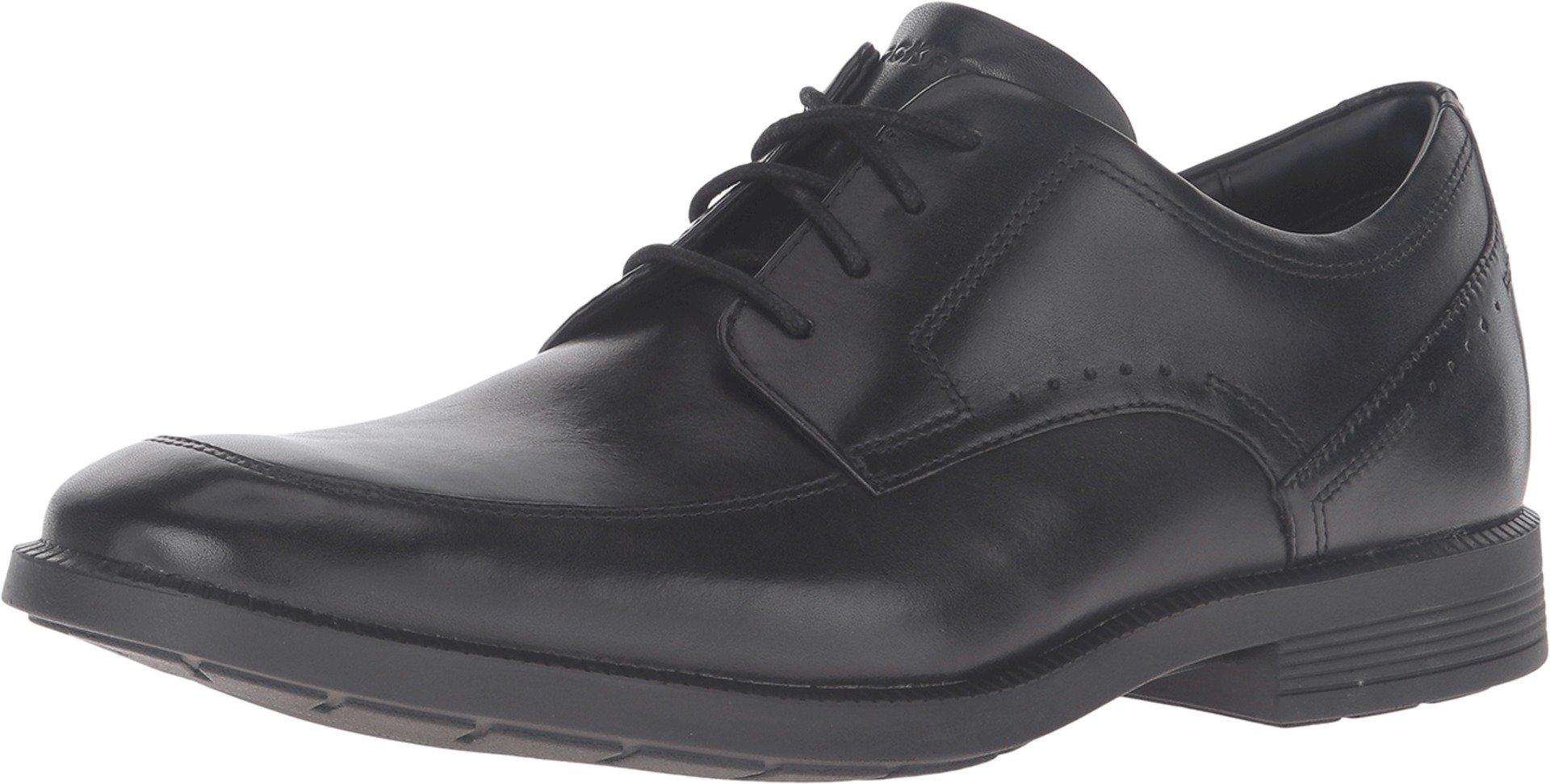 Rockport Men's Dressports Business Apron Toe Shoe, Black, 9 M US