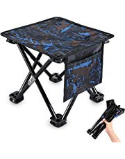 KUYOU Folding Camping Stool, 11.5 in / 13.3in Portable Outdoor Mini Chair Camping Small Seat Barbeque Stool for Fishing BBQ Hiking Gardening and Beach, Travel