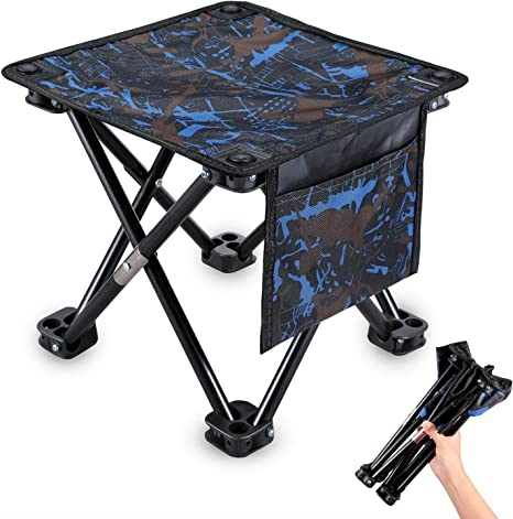 Heavy Duty Strong Folding Pocket Chair Outdoor Camping Fishing Fold Up Stool Bag