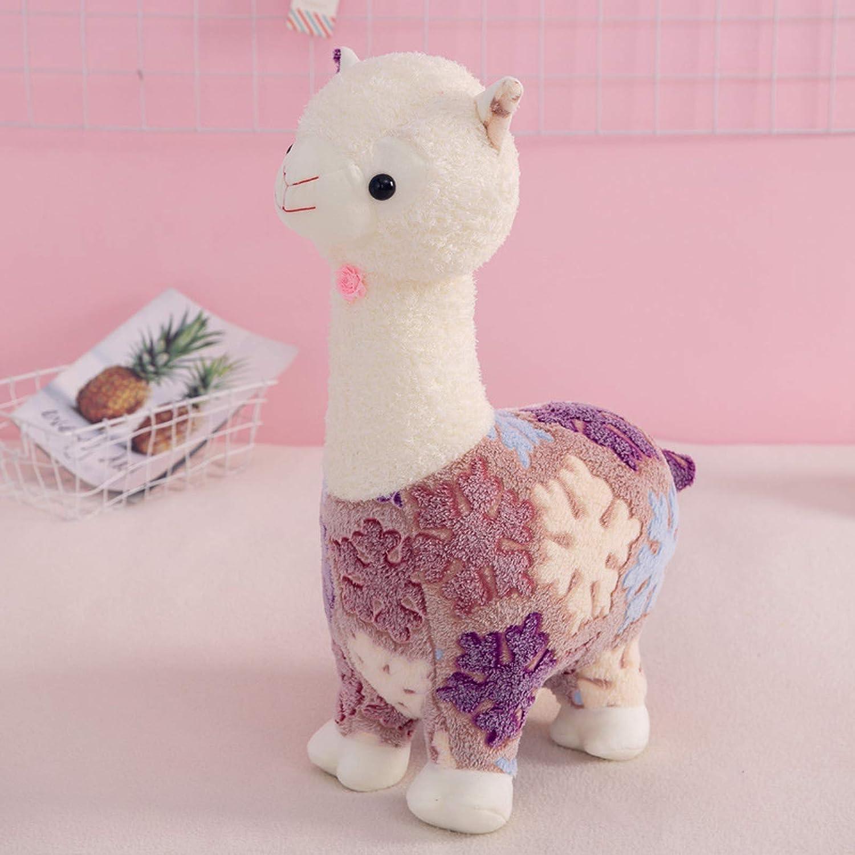 huyouwanG El muñeco de Caballo de Barro de Hierba de Juguete de Peluche de Alpaca Les da a Las niñas un Regalo de cumpleaños para Dormir como Almohada para los niños