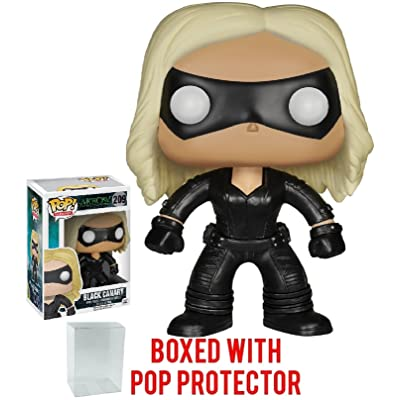 Funko Pop! TV: Arrow - Black Canary Vinyl Figure (Bundled with Pop Box Protector Case): Toys & Games
