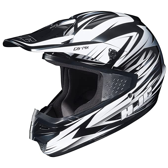 HJC CS-MX Shattered Motocross Motorcycle Helmet (MC-10, Small)