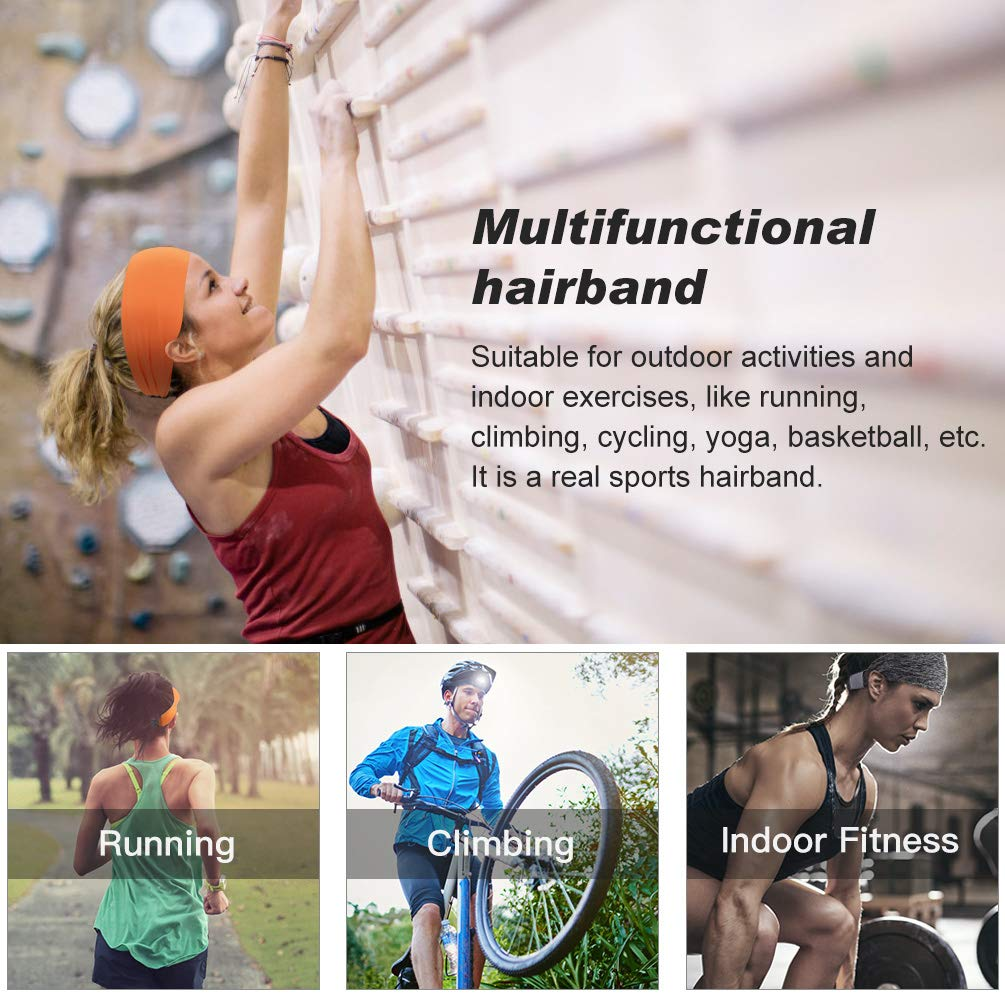VBIGER Headbands for Women - 3 Pack Sweatband Sports Headband Workout Sweatbands for Running,Crossfit,Cycling,Yoga,Basketball