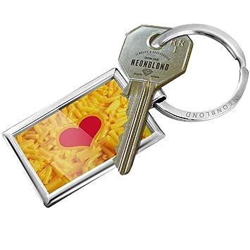 Amazon.com: Llavero Macaroni y Queso (el amor) – Neonblond ...