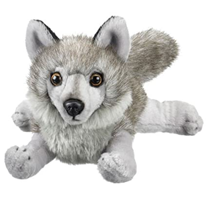 Amazon Com Gray Wolf Stuffed Animal Plush Toy 18 L Toys Games