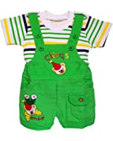 Littly Baby Dungaree Set (Green)