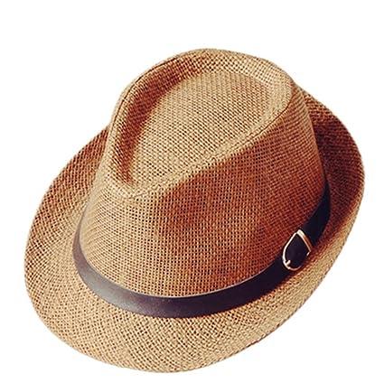 236f5b52ece7 Cdet Chapeau de Paille Anti-soleil Respirant Chapeau de jazz britanniques  amateurs de chapeau de